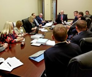 Picture of Utah Charter School Finance Authority Board meeting.